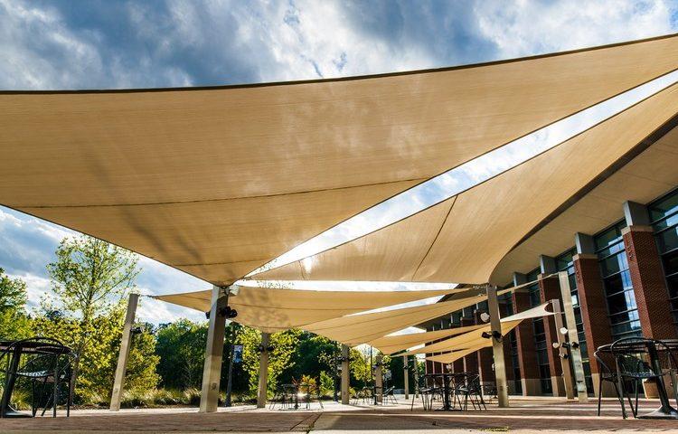 tensile shade structure in Dubai