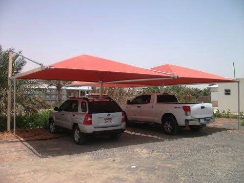 Pyramid Car Parking Shade Design
