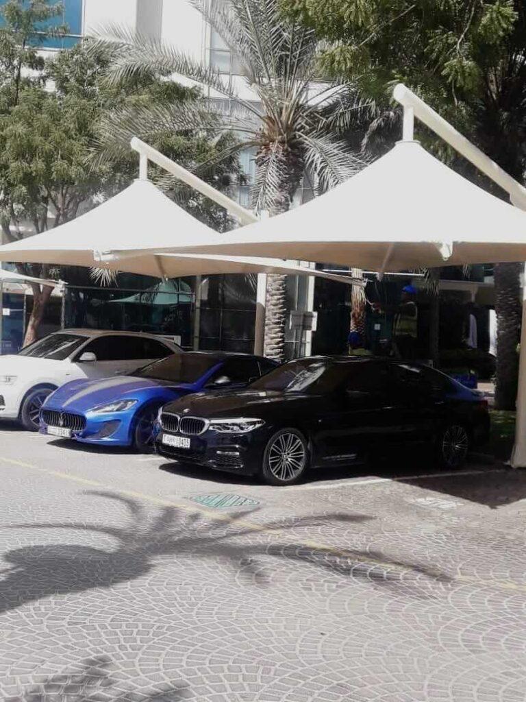 car parking shades design company in abu dhabi