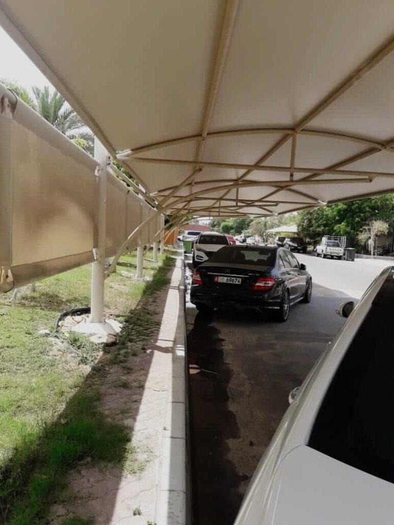 car parking shades design company in dubai
