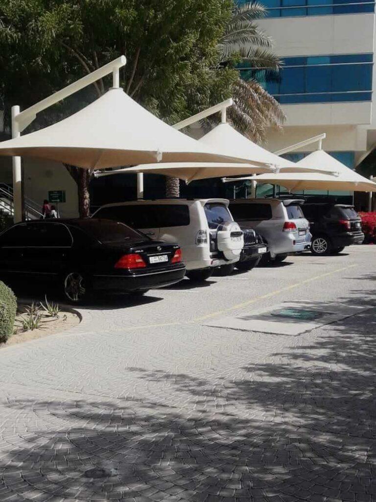 car parking shed company dubai